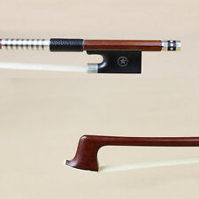 Silver Mounted Pernambuco Violin Bow star Inlayed Ebony frog good tension bow