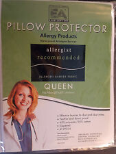 STANDARD-PILLOW PROTECTOR--STOPS BED BUGS DUSTMITES ALLERGEN WATERPROOF-ZIPPERED