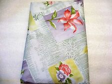 "Floral Provence Vinyl Tablecloth Flannel Backed  52"" x 70"" Lilly Flower Kitchen"