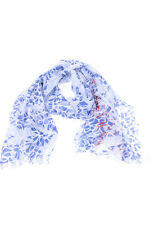 Armani Jeans Scarf Scarves Foulard -10% MADE IN ITALY Woman Blues C5441D1cam-5E