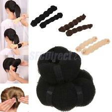 2 Size Sponge Hair Styling Tool Hair Band Accs Donut Bun Maker Magic Former Ring