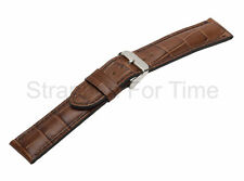 Brown Alligator Grain Watch Band Matching Stitch