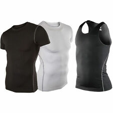 Men Sports Under Compression Armour Baselayer Short Sleeve T-Shirt Athletic Tops