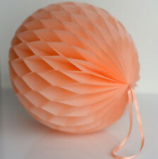 Peach color tissue paper Honeycomb - wedding party decorations