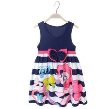 NWT My Little Pony Princess Dress Holiday Summer Girl Dress Party Clothes BLUE