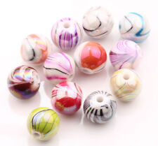 Hot 20/100Pcs Multi-Colored Round Acrylic Leopard Spacer Loose Beads 8/10/12mm