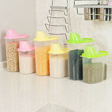 Dry Food Cereal Flour Pasta Dispenser Rice Container Bean Storage Sealed Box S L