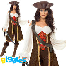 Ladies High Seas Pirate Wench Costume Caribbean Wench Fancy Dress Outfit