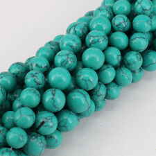 Wholesale 15 Inch Green Turquoise Charm Round Loose Spacer Beads 4/6/8/10/12mm