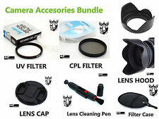 FK79 62mm CPL UV Filter + Lens Hood + Cap + Pen for Camcorder Camera Lenses