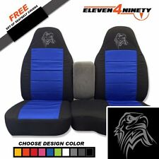 91-15 Ranger Blk Dk Blue 60-40 Seat Covers W Tribal Eagle Choose From 9 colors