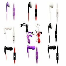 New 3.5mm Earphone Headphone Headsets With Mic Remote For Phone iPhone Samsung