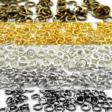 Wholesale 25-500Pcs Split Jump Rings Open Connector Jewelry Findings DIY 4-20mm