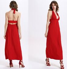 Hot Red Ball Gown dress Sweet Flowing Ultra-Sexy halter Dresses Sweet