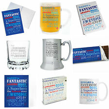 Personalised He Is Gifts Presents for Men Dads Birthday Fathers Day Christmas
