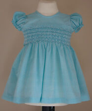 2016 Smocked baby dress in blue - Age 6-9 months