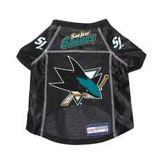 NEW SAN JOSE SHARKS PET DOG PREMIUM JERSEY w/NAME TAG ALL SIZES LICENSED