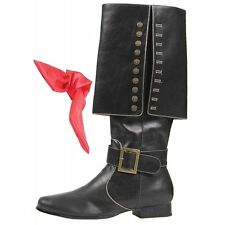 "ELLIE 121-CAPTAIN HOOK PIRATE SAILOR PUNK BUCCANEER COSTUME 1"" HEEL BOOTS SHOES"