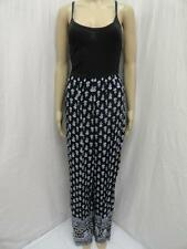 W. STOOSH BLACK/BLUE MULTI PRINT BACK CROSS SPAGHETTI STRAP JUMPSUIT SZ-S,M  NWT