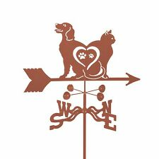 Cat and Dog - Love Weathervane - Weather Vane - Complete with Choice of Mount