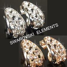 SALE 18K Rose / White Gold Plated Earrings use Swarovski Crystal Xmas  E485G