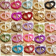 200 to 500 Pearl Heart Buckle/Ribbon Slider Scrapbooking Wedding Invitatiion
