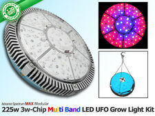 225 Watt 75 Diode LED Grow Light Red Blue White Hydroponic UFO Vegging+Flowering