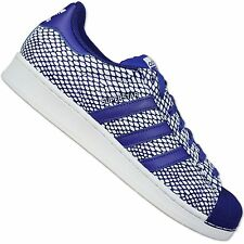 ADIDAS ORIGINALS SUPERSTAR 80s SNAKE PACK LEATHER SNEAKERS SHOES S82729 BLUE