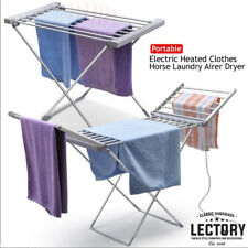 Electric Heated Clothes Towel Drying Rack Aluminum Portable Salon Laundry Airer