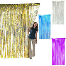 QUALITY SHIMMER FOIL TINSEL DOOR CURTAIN COVER WEDDING PARTY DECORATION METALLIC