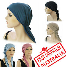 Fitted Bandana TIE DOWN Scarf Cap Hat Chemo Hair Loss Head Wrap Cover STRETCH