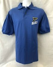 ST. LOUIS BLUES NHL MEN'S COTTON EMBROIDERED POLO SHIRT L XL FREE SHIPPING