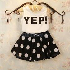 Baby Clothing Sets Girls Vest Dress Two Pieces Clothes Set Polka Dots Skirt Suit
