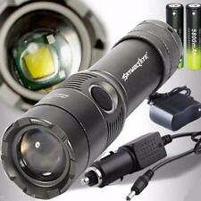 CREE XM-L T6 LED 3500LM Rechargeable Flashlight Torch w/18650 2Battery+2Charger