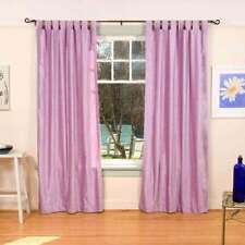Lilac Tab Top  Velvet Curtain / Drape / Panel  - Piece