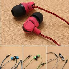 Universal 3.5mm Braided In-Ear Stereo Earphone Earbuds Headset Headphone Earpod