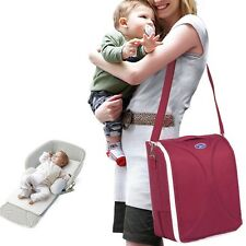 Outdoor Large Mummy Bag Baby Nappy Diaper Tote Shoulder Bag Foldable Infant Bed