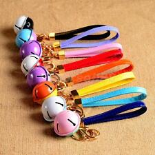 PU Leather Bell Charm Pendant Purse Bag Keyring Key Chain Hanging Accessories