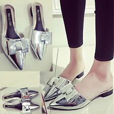 Patent Leather Shoes Women's Fashion Trendy Slippers Sexy Pointed toe Sandals