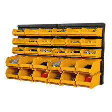 Plastic Bin Kit Wall Garage Storage Parts Bins Tool Organiser DIY Wall Rack Kit