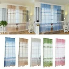 Window Curtain Voile Drape Panel Tulle Scarf Valance Sheer Divider Screen Decor