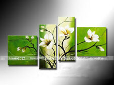 4pcs Hand painted Oil Canvas Wall Art Home Decor Abstract flower NO Frame