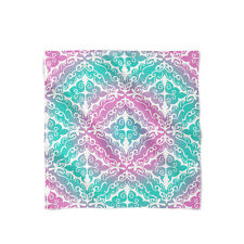 Pink Ombre Damask Satin Style Scarf - Bandana in 3 sizes