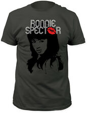 Ronnie Spector - Classic Kiss Charcoal T-Shirt - BRAND NEW