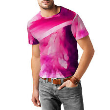 Pink Abstract Watercolor Mens Sport Mesh T-Shirt XS-3XL All-Over-Print Sublimati