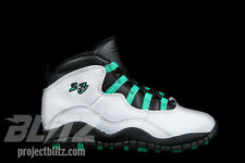 GIRLS AIR JORDAN 10 RETRO GP VERDE Sz 11C-2Y WHITE INFRARED 23 BLACK 487212-118