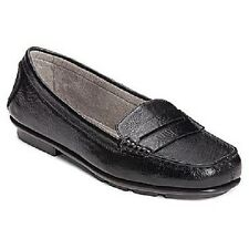 Women's A2 by AEROSOLES CONTINUUM Black Loafers Wedge Casual Slip On Shoes New