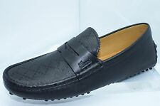 Gucci Mens Shoes Black Miro Soft Loafer Drivers Size G 10.5 Hilary Diamante NIB