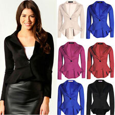 Graceful Lady Women's Business OL One Button Slim Blazer Suit Jacket Coat Tops