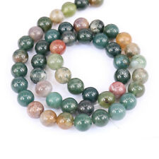1 Bunch Multi-Color India Agate Round Loose Bead Pendant Necklace Jewelry